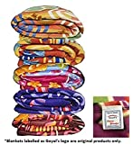 Goyal's Single Bed Multicolor Printed Fleece Blanket - Set of 5