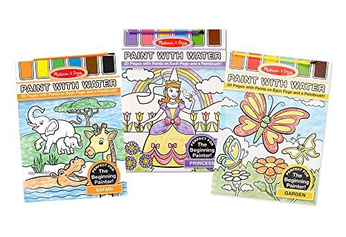 Melissa & Doug Paint With Water Activity Books Set: Safari,