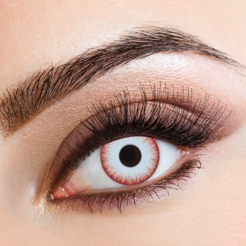 aricona Farbige Kontaktlinsen Zombie Night - Deckende 12-Monatslinsen, bunte Farblinsen für Karneval & Halloween