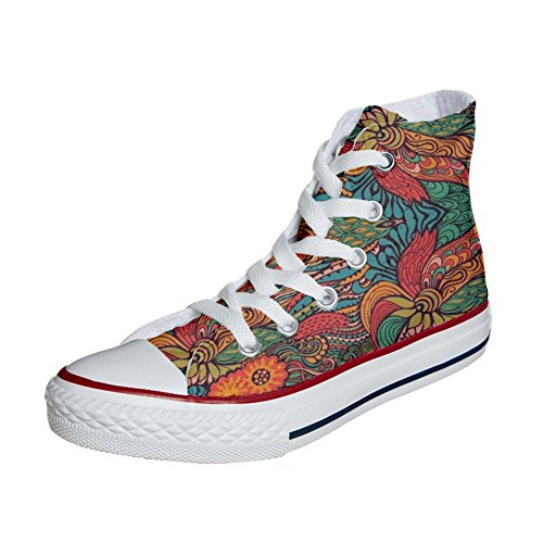 Converse All Star Hi chaussures coutume (produit artisanal) Infinity Texture