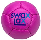 SWAX LAX Lacrosse Training Ball (Plum Pink) Same Size and Weight as Regulation Lacrosse Ball but Soft - No Rebounds, No Bounce Practice Ball