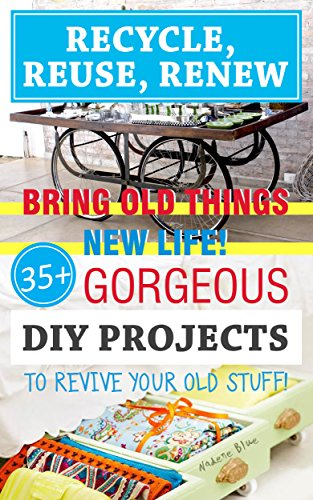 Recycle, Reuse, Renew: Bring Old Things New Life! 45+ Gorgeous DIY Projects To Revive Your Old Stuff!: (WITH PICTURES, DIY projects, DIY household hacks, ... crafts, DIY Recycle Projects Book 2) by [Blue, Nadene]