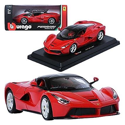 Amazoncom Burago 124 Ferrari Laferrari Red Display Mini Car