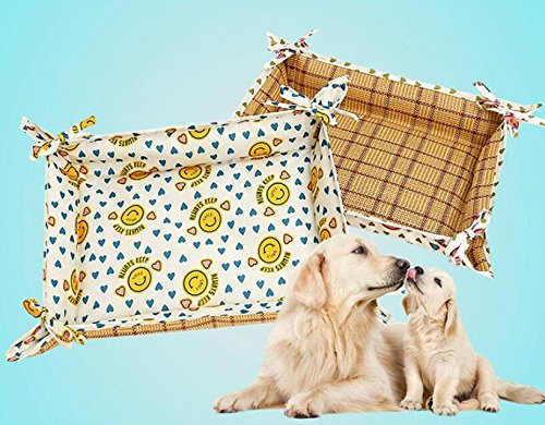 Huihuger Pet Blanket 2 in 1 Summer Oxford Impermeabile Canile Pet Mat (Giallo