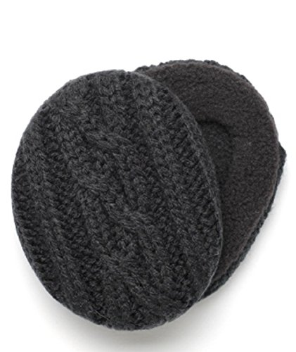 Sprigs Earbags Cable Knit with Thinsulate, Black, Medium (Sprig Holiday)