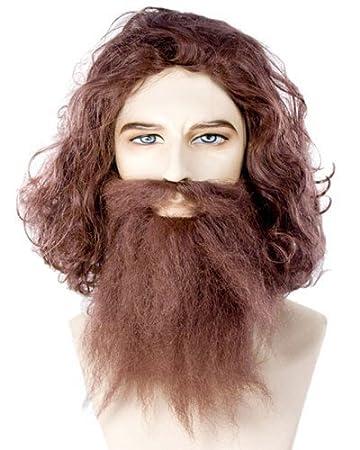 Caveman Geico Neanderthal Costume Wig   Beard Set - Dark Auburn by Lacey  Costume Wigs 6615e60ab60f