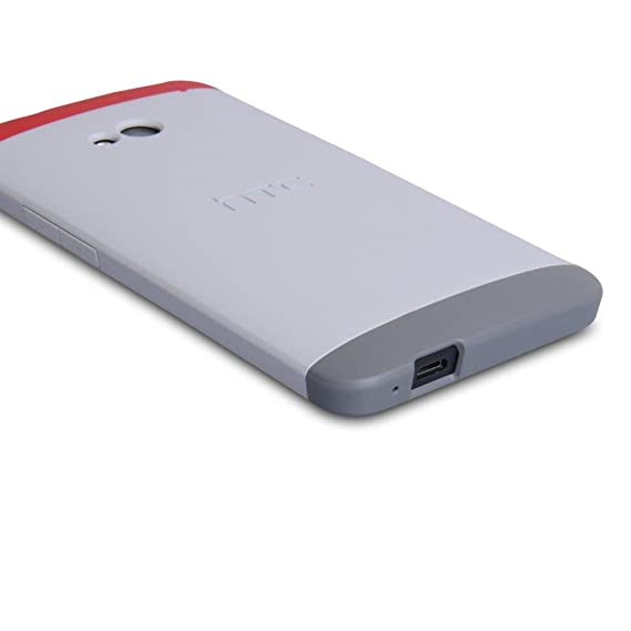 best authentic 945d0 8d3a9 HTC Double Dip Case for HTC M7 - Retail Packaging - Grey/Red