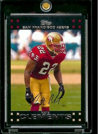 (2007 Topps Football # 227 Nate Clements - San Francisco 49ers - NFL Trading Cards )