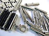 Bead Loom Slider Clasp, 1 Inch, Silver Color, Bead loom Clasp, Bracelet Findings, Bead Loom Patterns, 12 Package