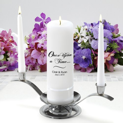 Personalized Wedding Unity Candle - Personalized Unity Candle Set - Once Upon A Time JDS GC330 CP1