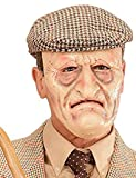 OLD MAN GRANDPA MASK WRINKLY FACE FANCY DRESS