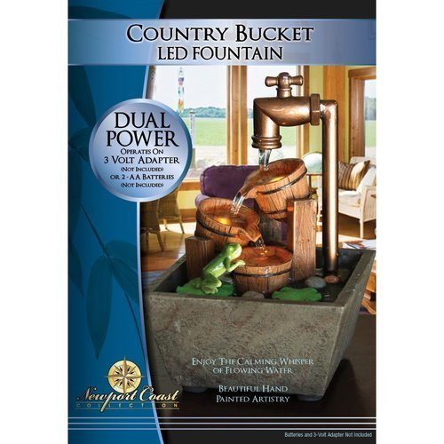 Newport Coast Collection Country Bucket LED Fountain