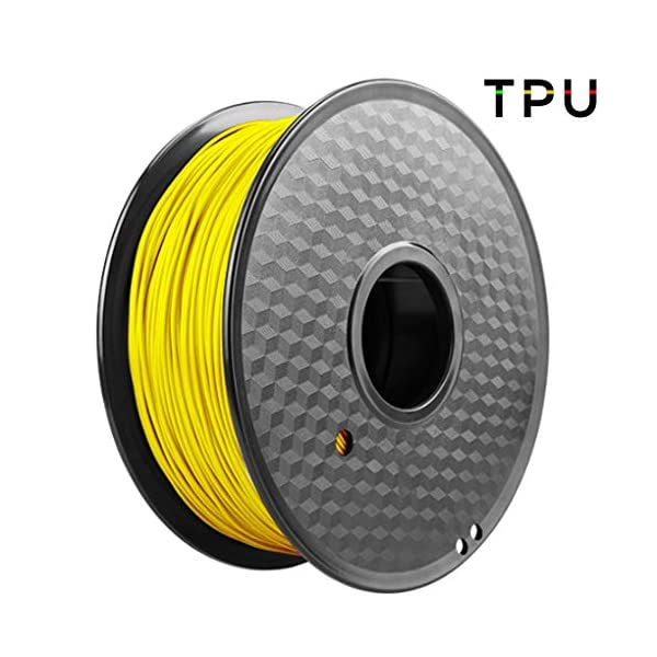 3d printing filament flexible tpu, 1kg(2.2lbs) filament 1.75mm, used for 3d printer and 3d printing pen, multiple colors (color : yellow)