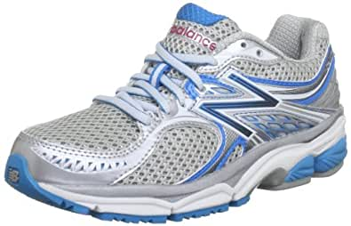 New Balance Women's W1340 Optimal Control Running Shoe,Silver/Blue,6 D US
