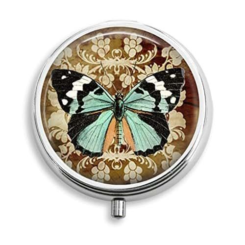 Amazon Small Decorative Boxes: Amazon.com: Butterfly Damask Pill Box Pill Holder Pill
