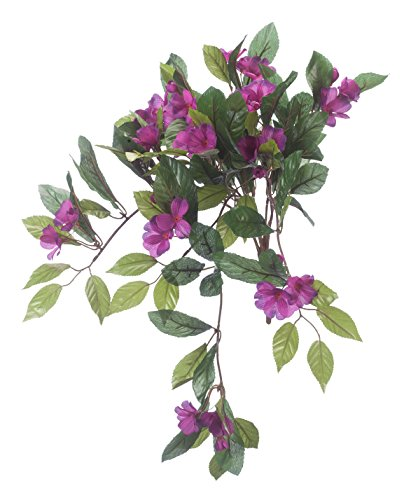 Impatiens Accent - OakRidge Artificial Impatiens Hanging Stem - Purple, 25