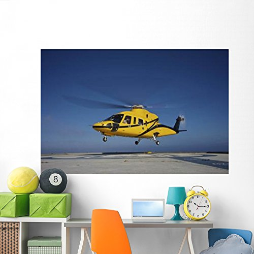 Sikorsky S-76 Utility Helicopter Wall Mural by Wallmonkeys Peel and Stick Graphic (72 in W x 48 in H) WM123097