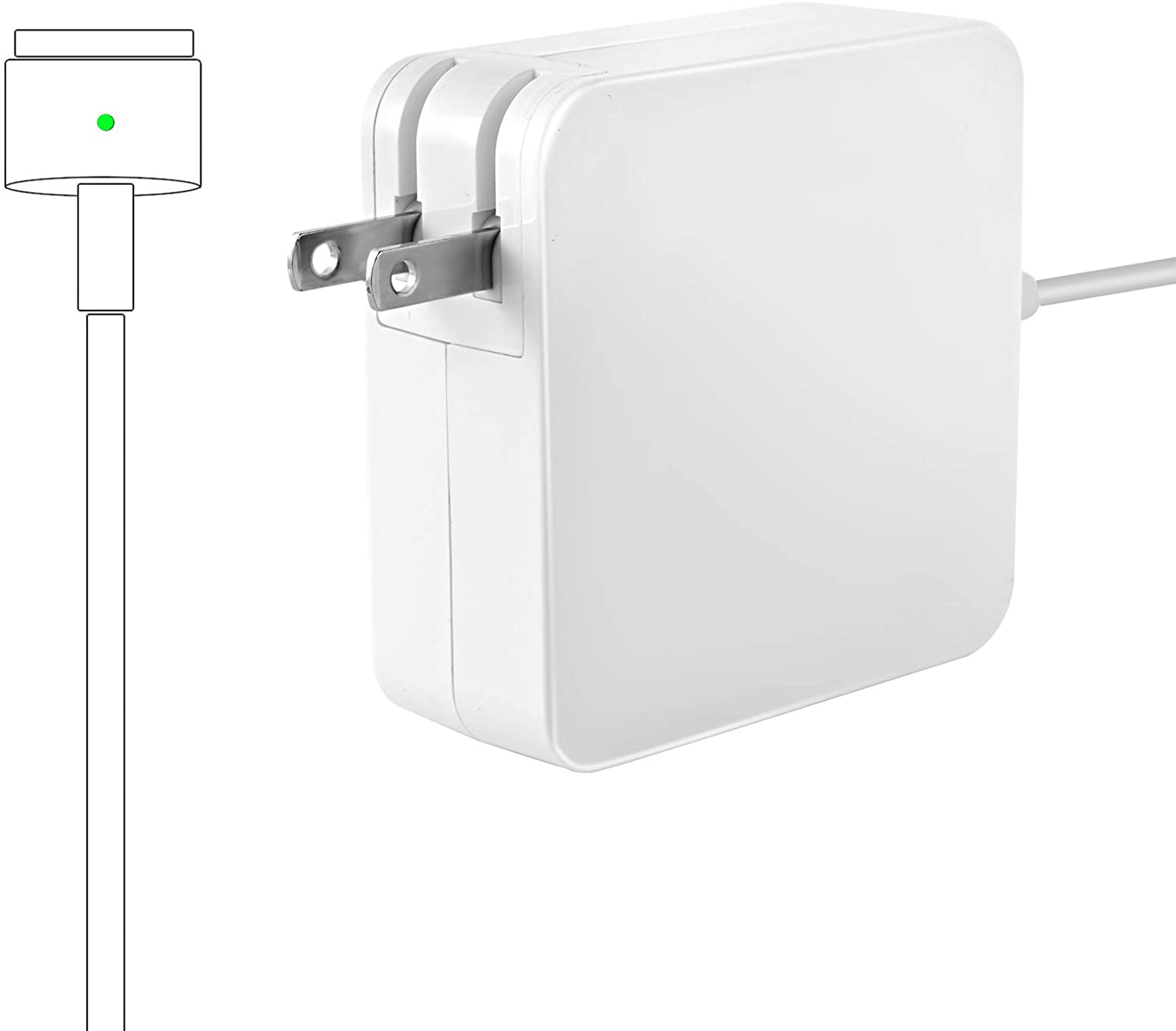 Liusd Charger, Compatible Charger for Mac Book Air, Replacement 45W Power Adapter Magnetic AC Charger for Mac Book Air 11&130inch (After Mid 2012)