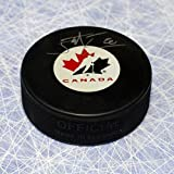 John Tavares Signed Puck - Team Canada Olympic - Autographed NHL Pucks