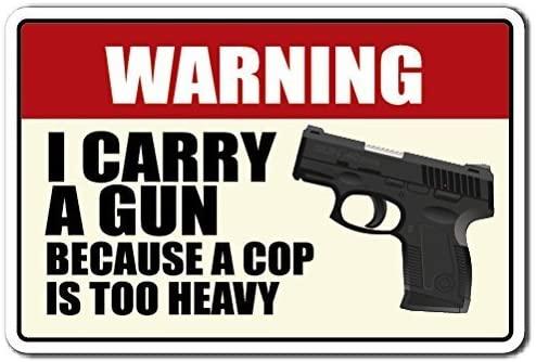 Divertido cartel de aviso de regalo, I llevar un munición ...