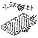 single axle utility trailers - 6' 4