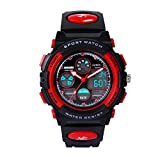 Image of HIwatch Kids Sport Watch for Girls Digital Analog Wrist Watches Red