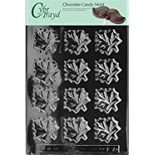 Cybrtrayd Life of the Party F078 Maple Leaves Tree Syrup Chocolate Candy Mold in Sealed Protective Poly Bag Imprinted with Copyrighted Cybrtrayd Molding Instructions