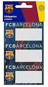 Fc Barcelone - Etiquetas adhesivas para libros (9 unidades