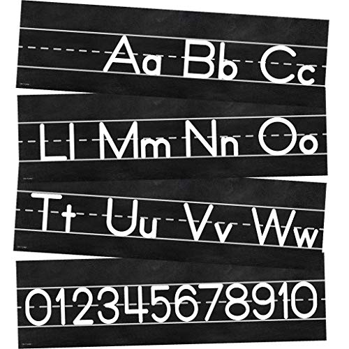 Schoolgirl Style Industrial Chic Mini Bulletin Board Set, Alphabet Line: Manuscript (110402)