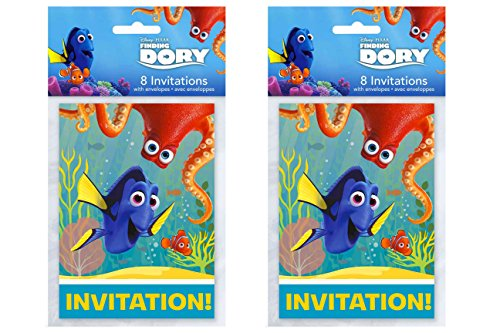 Disney Pixar Finding Dory Party Invitations 16 CT]()