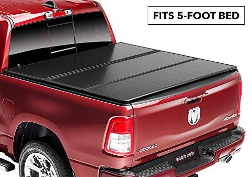 - Rugged Liner E-Series Hard Folding Truck Bed Tonneau Cover | EH-T505 | fits 05-15  Tacoma Double Cab  5ft. (with utility track), 5' bed