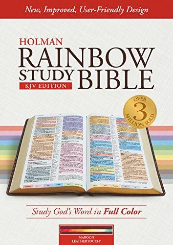 - KJV Rainbow Study Bible, Maroon LeatherTouch, Indexed