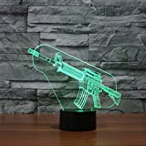 Toy Gun 3D Illusion Halloween Decorations Lamp