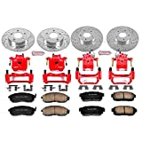 Power Stop KC2706 1-Click Performance Brake Kit with Caliper, Front & Rear