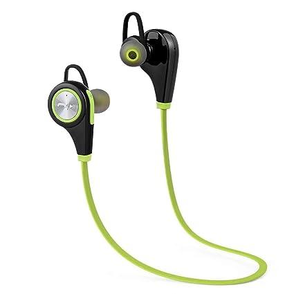 Auriculares Bluetooth Houkoli 4.1 Auriculares inalámbricos Audífonos Deporte con micrófono, Cancelación de Ruido con Sonido