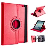 Ace of Slates 360 Degree Rotating Stand Case for iPad 4 Retina Display, iPad 3 and iPad 2 - Red