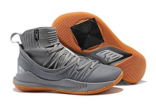 18c51214a45f UnderArmour UA Curry 5 Grey High Top Men s Basketball Shoes (8.5 UK ...