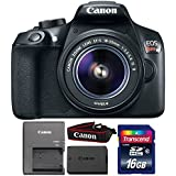 Canon EOS Rebel T6 18MP Digital SLR Camera with 18-55mm Lens and 16GB Memory Card
