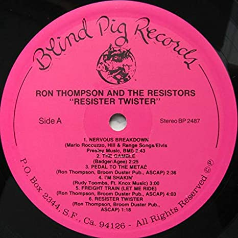 Resister Twister: Ron Thompson And The Resistors: Amazon.es ...