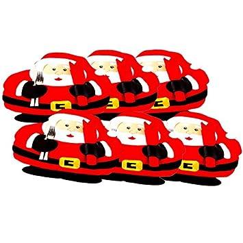 BulzEU Alfombra Almuerzo Toalla decoración Navidad diseño Santa Papá Noel para manita Tenedor Toalla Bandeja: Amazon.es: Hogar