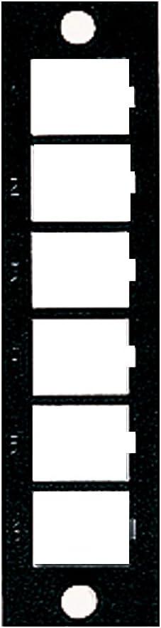 5F100-6QP Leviton Opt-X QuickPort Plate Empty Black