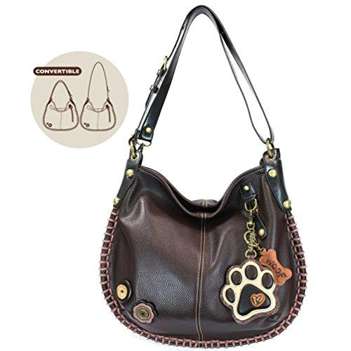 Soft or Shoulder Casual Brown Print Handbag Crossbody Crossbody Hobo Style Paw CHALA Dark gnAXq01