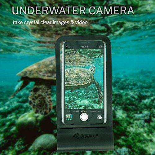 Waterproof Phone Case: Best UNIVERSAL Cellphone Dry Bag Water Proof Pouch. Clear Cover Underwater Cases Holder Bags for All Cell Phones. iPhone Plus X 8 7 6 6S & Galaxy S9 S8 S7 S6 & Google Pixel etc by E Tronic Edge (Image #5)