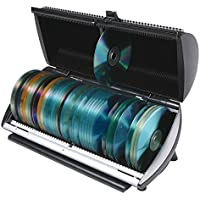 CD, DVD, Blu-Ray 100 Disc Media Storage Organizer Box