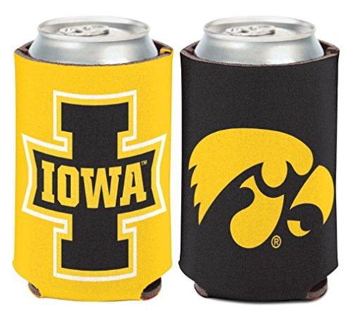 Iowa Hawkeyes Tailgate Cooler (NCAA University Iowa Hawkeyes 1 Pack 12 oz. 2-Sided Can Cooler)