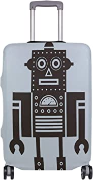 FOLPPLY Funny Cartoon Robot Luggage Cover Baggage Suitcase Travel Protector Fit for 18-32 Inch