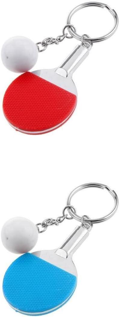 Llavero Mini Tenis / Tenis de Mesa para Selección (2 Piezas) - Tenis de Mesa (Longitud Total 9.5cm)
