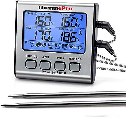 Compra ThermoPro TP17 TP-17 - Termómetro digital de cocina con ...