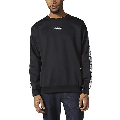 adidas Originals Adicolor TNT Tape Crew Men s Sweatshirt Black White br6748  (Size ... 9aa22c2621