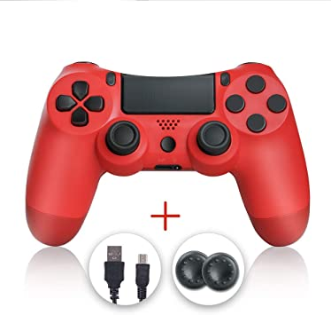 shineled Mando PS4, PS4 Controller, Controlador PS4, Mando Inalámbrico Gamepad Compatible con Playstation 4 (Rojo): Amazon.es: Electrónica